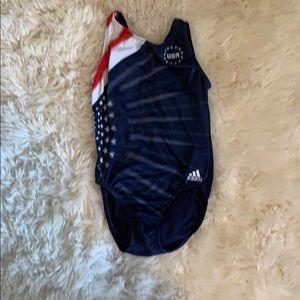 Adidas USA gymnastics leotard